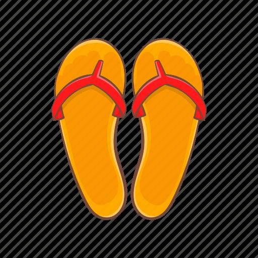 cartoon, fashion, flips, flops, shoe, sign, summer icon