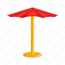 beach, cartoon, parasol, relaxation, sign, summer, umbrella icon