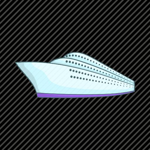 cartoon, cruise, nautical, sea, ship, sign, yacht icon
