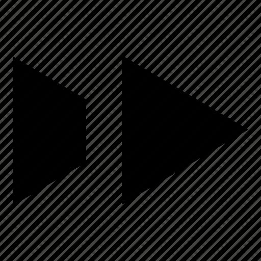 arrow, fast, forward, go, micro, next, right icon