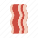 bacon, breakfast, meat icon