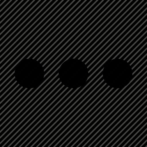 dot, dots, ellipsis, list, menu, more, period icon