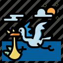 bird, animal, pigeon, fly, evacuation, wild, nature