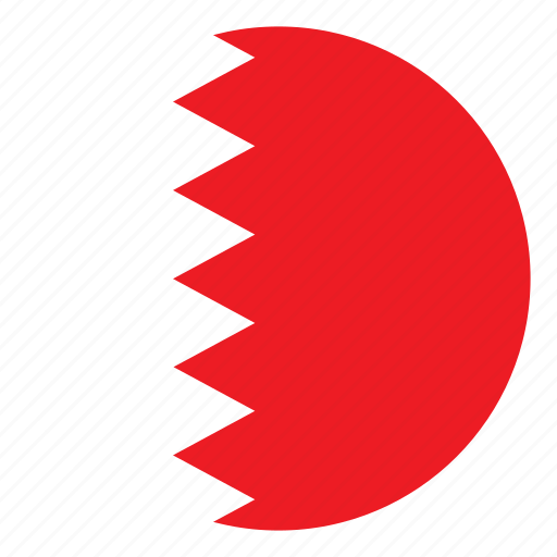 Bahrain Color Country Flag Middle East Nation Round Icon - Bahrain flags