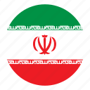 arab, color, country, flag, middle east, nation, round icon