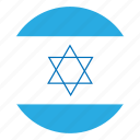 color, country, flag, israel, middle east, nation, round icon