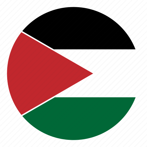color, country, flag, middle east, nation, palestine, round icon