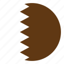 color, country, flag, middle east, nation, qatar, round icon