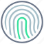 authentication, fingerprint, identification, login, mobile, unlock, user interface icon
