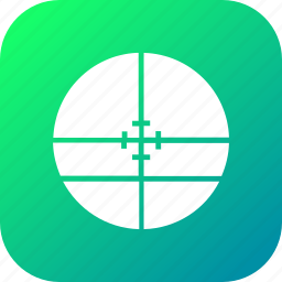 circle, cross, gun, hunting, sight, sniper, target icon