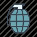 bomb, explosive, grenade, military icon