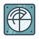 detect, locate, navigate, radar icon