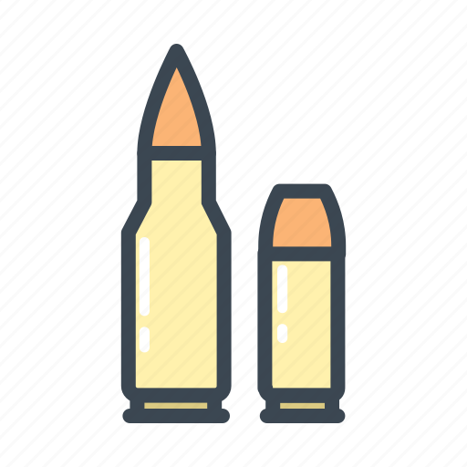 ammo, ammunition, military, weapon icon