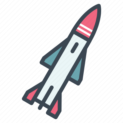 military, missiles, nuclear, rocket icon
