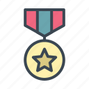 award, badge, medal, military icon