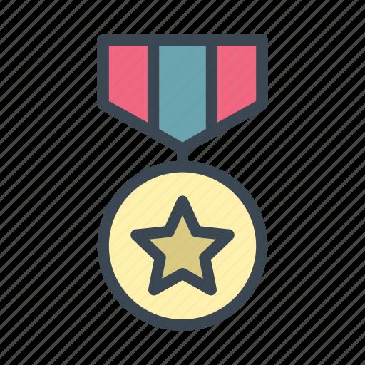 award, badge, medal, military icon