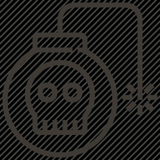 Military, fuse, bomb, war, skull icon