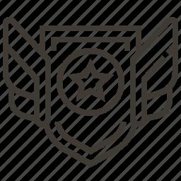 badge, military, rank, star icon