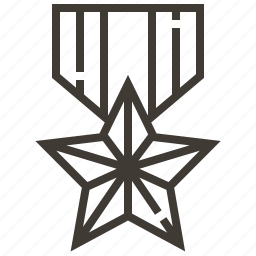 badge, military, soldier, star icon