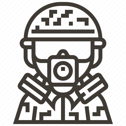 avatar, gas mask, military, soldier icon