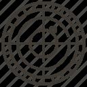bullseye, crosshairs, sonar, target icon