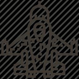 jet, military, plane, vehicle icon