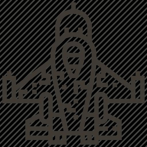 Military, plane, jet, vehicle icon