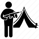 battle camp, boot camp, military, soldier, swat icon