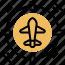 aircraft, enemy, location, radar, target icon