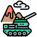 artillery, battle, military, tank, warfare icon