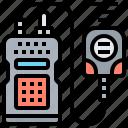 radio, talkie, transceiver, transmitter, walkie