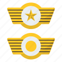 airforce, badge, commander, wings icon