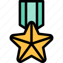 army, medal, military, soldier, war icon