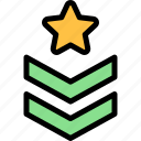 army, military, rank, soldier, war icon