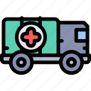 ambulance, army, military, soldier, war icon