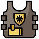 armor, bulletproof, fashion, policeman, protection, security, vest, weapons icon