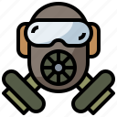 fashion, gas, glasses, mask, protection, safety, security icon