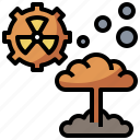 bomb, dangerous, explosion, explosive, miscellaneous, nuclear, radioactivity icon