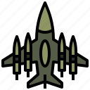 aircraft, flight, military, spacecraft, transport, transportation, war icon