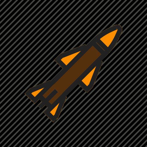 army, gun, military, missile, rocket, war, weapon icon