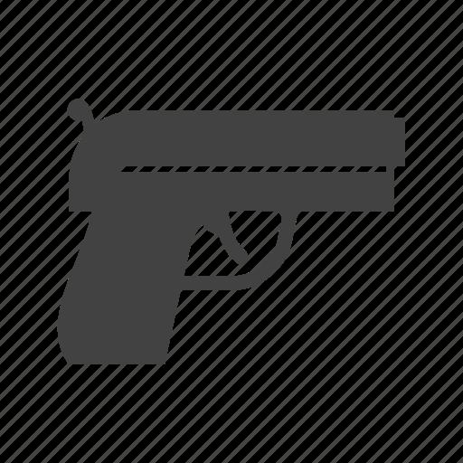 bullet, gun, handgun, pistol, shot, sniper, target icon