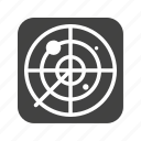 air, green, military, radar, screen, traffic, war icon