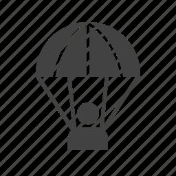 flight, jump, parachute, parachuting, skydive, skydiving, sport icon