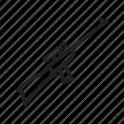 gun, machine, military, rifle, shooting, sniper, weapon icon