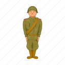 cartoon, century, historic, history, military, soldier, uniform icon