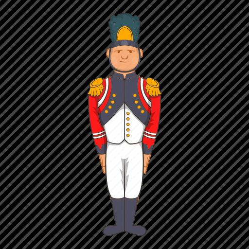 cartoon, century, historic, history, military, soldier, uniform icon