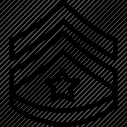 badge, insignia, star, stripes, two icon