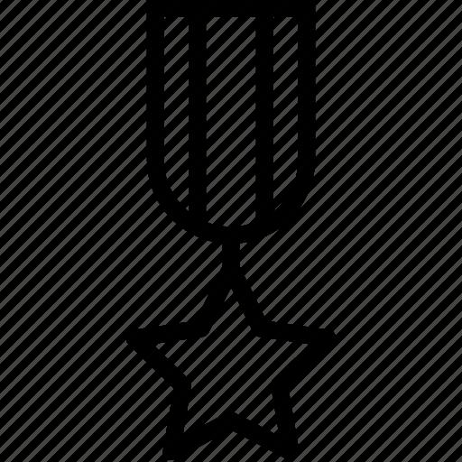 badge, decoration, insignia, star, striped icon