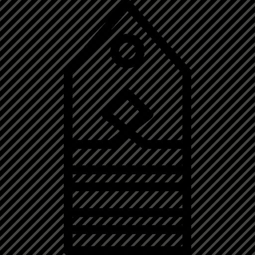 Insignia, lieutenant, rank, military icon