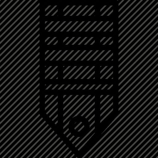 badge, military, rank, stripe, tag, three icon